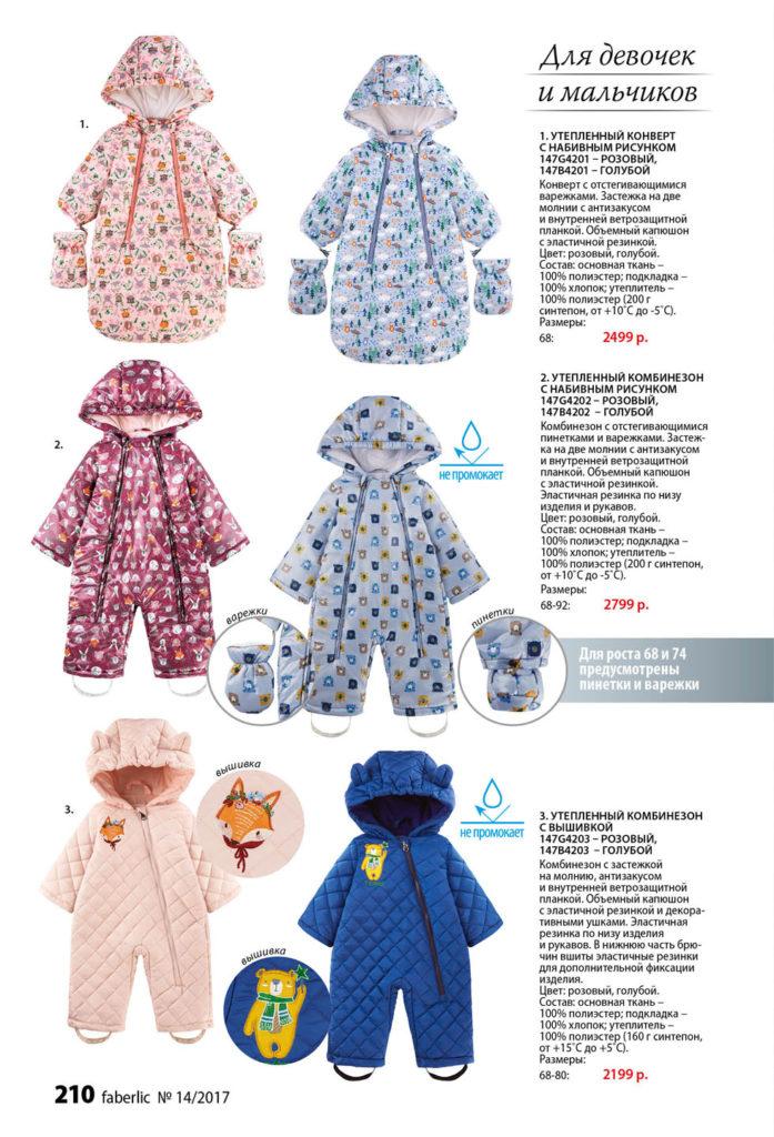 одежда фаберлик для новорожденных