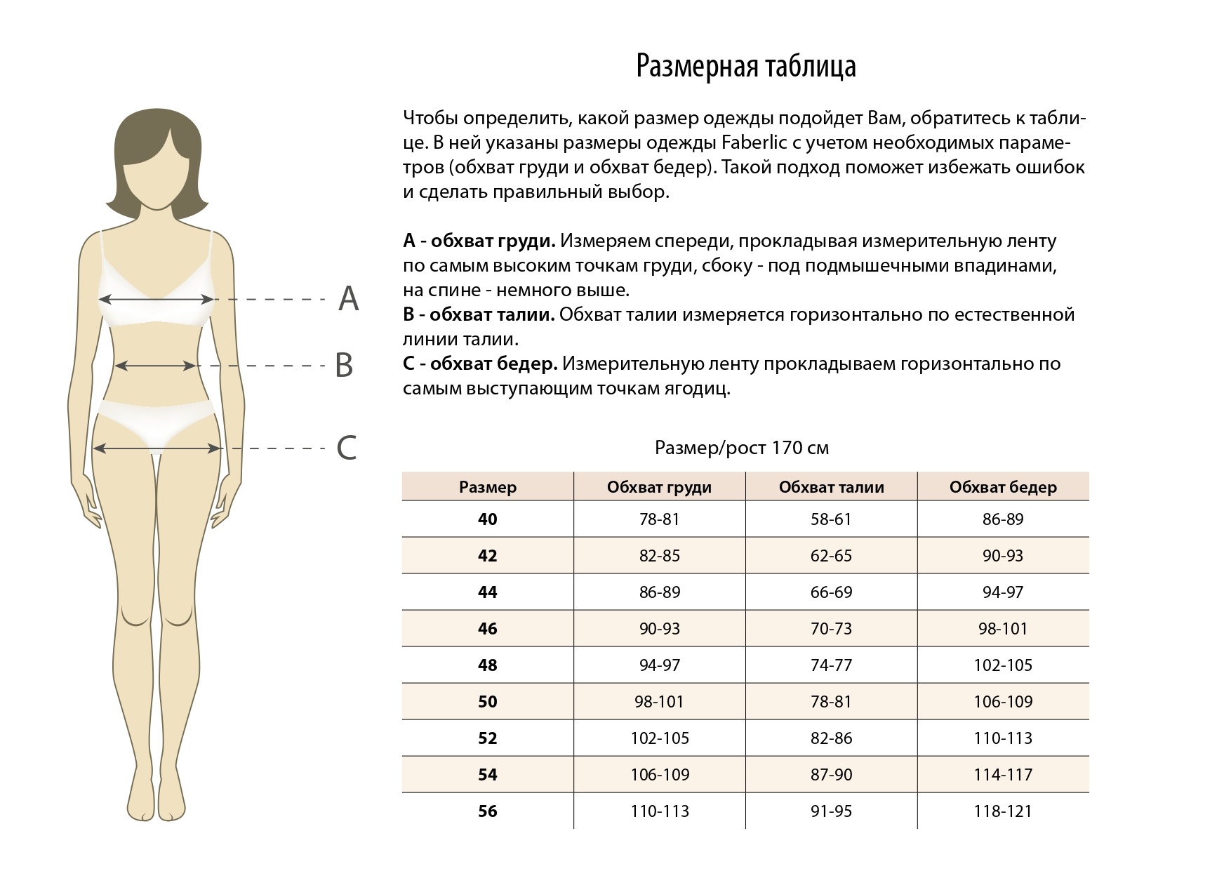 Фаберлик Burmatikov таблица размеров