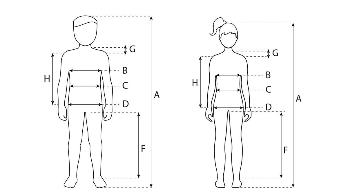 Блузки для девочек таблица размеров